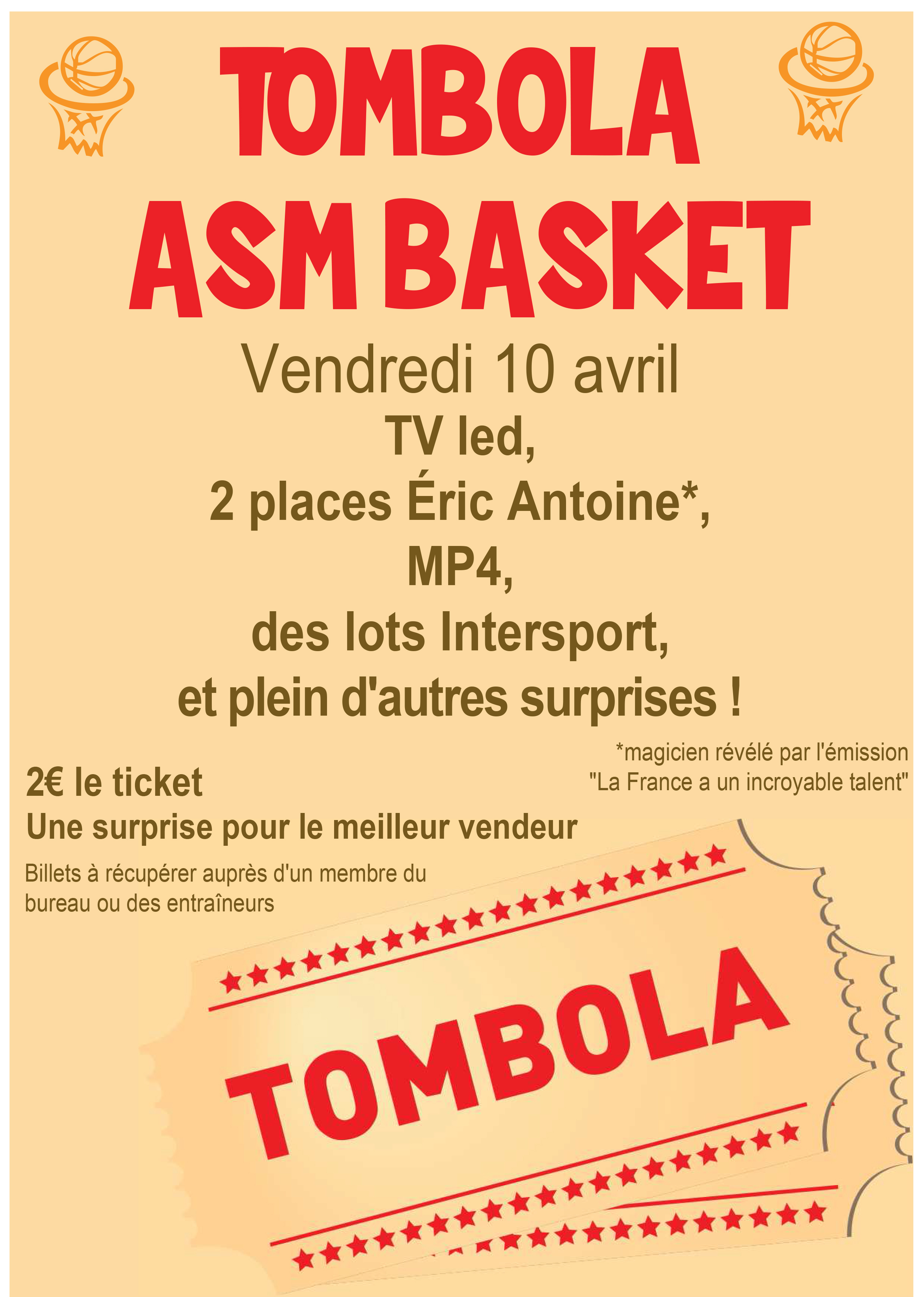 affiche tombola